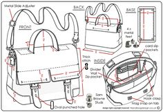 Handbag / Purse design illustration sketch drawing / Hand rendering by Emily O'Rourke at Coroflot.com
