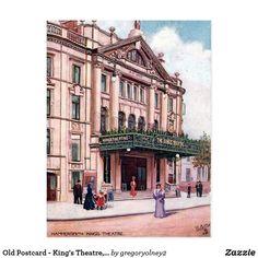 Old Postcard - King's Theatre, Hammersmith Retro Pics, Retro Pictures, London Theatre, Republic Of Ireland, Fulham, Vintage London, Theatres, Holiday Photos, Vintage Postcards