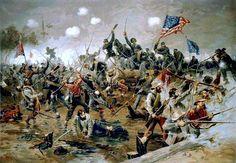 Battle of Spotsylvania by Thure de Thulstrup.