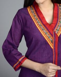 Cotton Mangalgiri Sandoor Embroidery Anghrakha Long Kurta