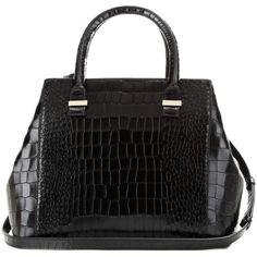 Victoria Beckham Quincy Leather Tote (129.545 RUB) via Polyvore featuring bags, handbags, tote bags, victoria beckham, black, leather handbag tote, leather tote, handbags totes and real leather handbags