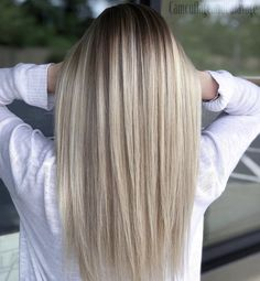 33 stunning straight balayage straight hairstyles for … Ombre Hair Color, Hair Color Balayage, Blonde Balayage, Balayage Highlights, Medium Hair Styles, Curly Hair Styles, Long Hair Styles Straight, Haircuts For Long Hair Straight, Hair Medium