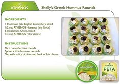 theworldaccordingtoeggface: Greek Hummus Rounds