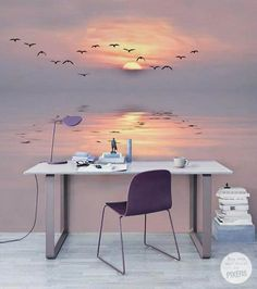 Bedroom Decor Discover Pastel Twilight Contemporary - Office Pixers We live to change Bedroom Wall, Bedroom Decor, Bedroom Ideas, Bedroom Murals, Interior Design Living Room, Interior Decorating, Decorating Games, Kitchen Interior, Interior Ideas