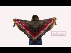 How to crochet the virus shawl! materials: caron cake yarn crochet hook Row chain slip stitch to the sti. Poncho Knitting Patterns, Crochet Poncho, Crochet Hooks, Poncho Shawl, Crochet Videos, Slip Stitch, Crochet Designs, Crochet Clothes, Crocheted Blankets