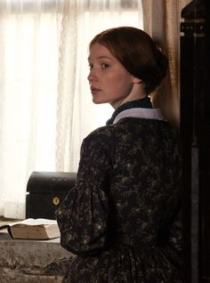 the-garden-of-delights: Mia Wasikowska in the title role of Jane Eyre Mia Wasikowska, Emily Bronte, Charlotte Bronte, Bronte Parsonage, Jane Eyre 2011, Bronte Sisters, Corpse Bride, Anne Of Green Gables, Movie Costumes