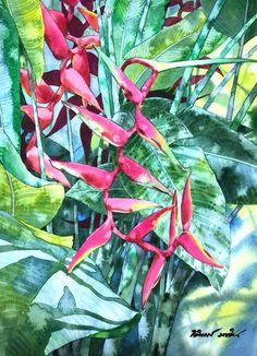 Watercolor, Artist, Plants, Pen And Wash, Watercolor Painting, Artists, Watercolour, Plant, Watercolors
