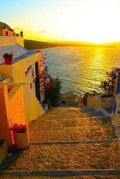 Golden Sunset - Santorini, Greece