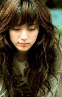 cute asian long haircut haircut hairstyles with bangs for wavy hair