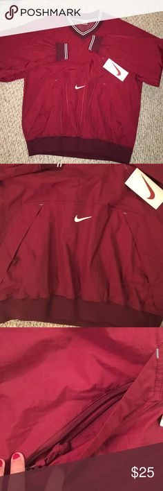 Nike mens maroon wind breaker New with tags - front pockets with zippers Nike Tops Sweatshirts & Hoodies