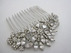 Vintage Inspired bridal hair comb,wedding hair accessories, bridal headpieces, rhinestone hair comb bridal ,wedding hair comb, bridal. $42.00, via Etsy.