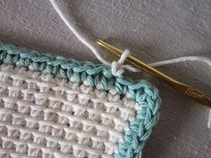 Miss Abigail& Hope Chest: Tutorial - Tunisian Crochet Dishcloth - Crochet Afghans, Tunisian Crochet Patterns, Crochet Potholders, Crochet Towel, Love Crochet, Learn To Crochet, Easy Crochet, Afghan Stitch, Hope Chest