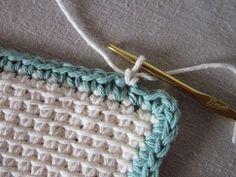 Miss Abigail's Hope Chest: Tutorial - Tunisian Crochet Dishcloth