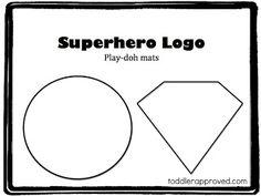 Opening Activity Day 1, Make their own name tag, superhero logos