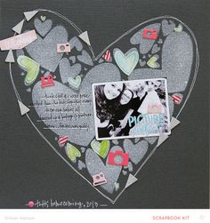 #papercraft #scrapbook #layout   picture perfect by just g at @Studio_Calico