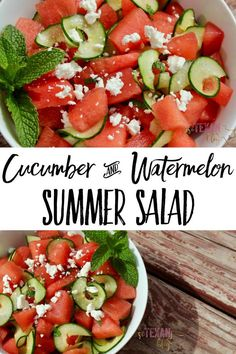 Cucumber Watermelon Salad Summer Salad with Lime Essential Oil