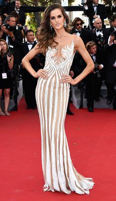 23 of the Most Major Model Moments at Cannes   People - Isabel Goulart in a Zuhair Murad dress in 2015