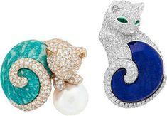 """Van Cleef & Arpels presents its new High Jewellery collection – """"L'Arche de Noé racontée par Van Cleef & Arpels"""" – during the month of September with an exhibition open to the public and free at the Hotel d'Evreux. Cats"""