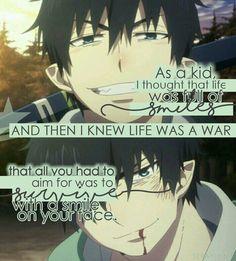 Rin Okumura || Ao no Exorcist (Blue Exorcist) || Anime Quote