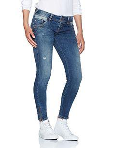 530be49ef26de1 LTB Jeans Damen Slim Jeans ENIOALA Blau (Peliel Wash 50342) W32