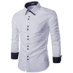 db29be621 Mens slim trendy colored cuffs dress shirt for the stylish men - Lovely  design offers