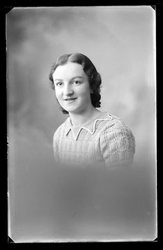 Unidentified young woman in knitted top, c. 1930; by Public Record Office of Northern Ireland, via Flickr