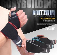 4.49$  Know more - fast shipping! 2 pcs/lot Weight Lifting Wristband Sport Safety Wrist Support Gym Training Wrist Straps Fitness Bandage Wraps   #magazineonlinewebsite