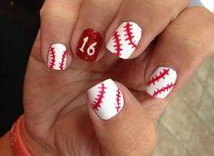 Beautiful Baseball Nail Ideas