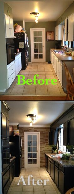 I love Before & Afters! DIY kitchen