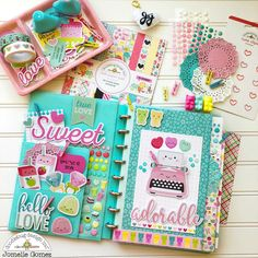Doodlebug has variety of colorful and fun embellishments that I always love to use in my planner set. Cute Planner, Planner Pages, Happy Planner, Planner Stickers, Kawaii Planner, Diy And Crafts, Paper Crafts, Cute Stationery, Stationary