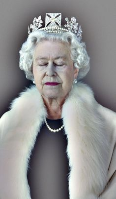 """Lightness of Being"": A portrait of Queen Elizabeth II with her eyes closed. Photograph: Chris Levine: ""During the shoot, there was a lot of bright light, noise, and each exposure took eight seconds, which is a long time to have to sit still. I wanted the Queen to feel peaceful, so I asked her to rest between shots; this was a moment of stillness that just happened."""