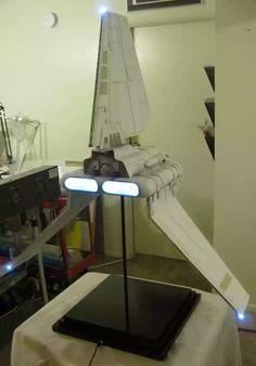Studio Scale Shuttle Tydirium by Dan Grumeretz Star Wars Vehicles, Star Wars Models, Sci Fi Models, Imperial Army, Model Kits, Visual Effects, Spaceship, Star Trek, Mockup