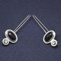 Earrings DENIM - kolczyki DENIM : silver, peridot, chalcedony