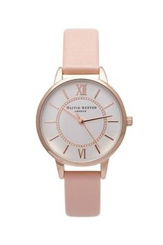 **Wonderland Dusty Pink N Rose Watch by Olivia Burton