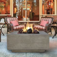 Prism Hardscapes Tavola III Gas Fire Table | WoodlandDirect.com: Outdoor Fireplaces: Fire Pits - Gas #LearnShopEnjoy
