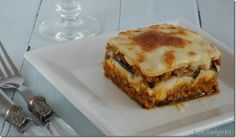 Espe Saavedra, en la cocina: MOUSSAKA GRIEGA o MUSAKA Musaka, Lasagna, Pasta, Ethnic Recipes, Food, Homemade Recipe, Food Recipes, Meals, Greek