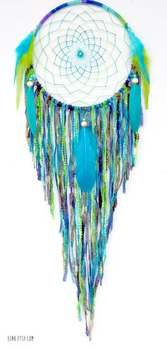 Dream Catcher- Turtle Island Large Native Style Woven Dreamcatcher by eenk, $79.00
