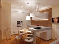 Cucine con penisola - Cucina con penisola e tavolo rotondo