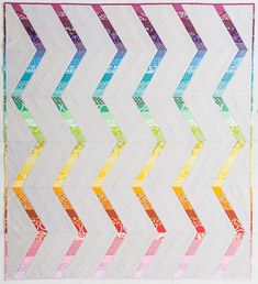 """Rainbow Streak"" quilt by Rebecca Bryan"