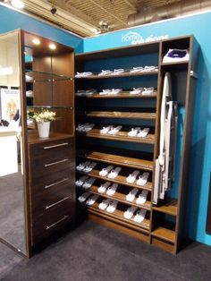 Superieur Check Out The Pull Out Ironing Board In Our Chocolate Wood Solutions Closet!  Convenient!