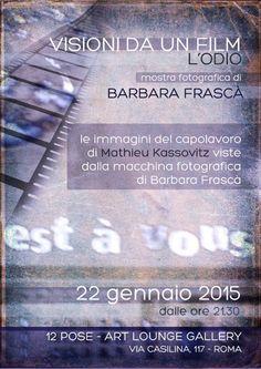 """""""Visioni da un film: L'odio"""", mostra fotografica di Barbara Frascà alle Dodici Pose di Roma"""