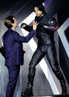 Sebastian Stan at the premiere of 'Captain America: Civil War' on April 19th, 2016 in Beijing, China.
