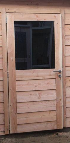Enkele deur Zweeds rabat half glas