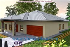 Overall Dimensions- x mBathrooms- 3 Car GarageArea- Square meters Tuscan House Plans, My House Plans, Family House Plans, Bedroom House Plans, House Floor Plans, Building Costs, Building Plans, Single Storey House Plans, House Plans South Africa