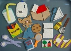 GIVE A MOUSE A COOKIE Children's Flannel Board Felt Set. $15.00, via Etsy.