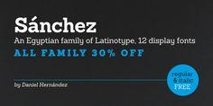 Sanchez (30% discount, from 0€) - http://fontsdiscounts.com/sanchez-30-discount/