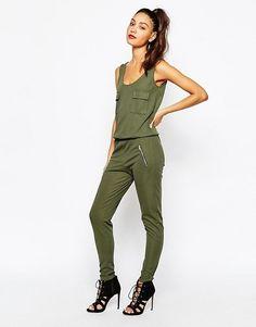 Daisy Street Khaki green jumpsuit S/m