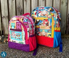 Are you ready for an adventure? The Adventure Time Backpack pattern includes two sizes suiting young children right through to adults. With options like piping outer drink bottle holders inner zipper pockets and an inner slip pocket (perfect for carrying books!) you will have loads of fun customizing this bag to suit all members of the family! Head to the link in our bio to grab the PDF Pattern or Comprehensive Video Class today! Adventure Time Backpack, Backpack Pattern, Wallet Pattern, Small Backpack, Diy Backpack, Pdf Sewing Patterns, Bag Patterns, Cool Backpacks, Diaper Bag