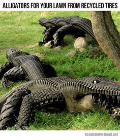 Alligators from recycled tires!