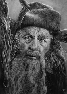 The Hobbit The Desolation Of Smaug artwork by Annie Bradshaw--Radagast Tolkien Hobbit, Hobbit Art, Lotr, The Hobbit, Radagast The Brown, Sylvester Mccoy, Frodo Baggins, Desolation Of Smaug, Cs Lewis